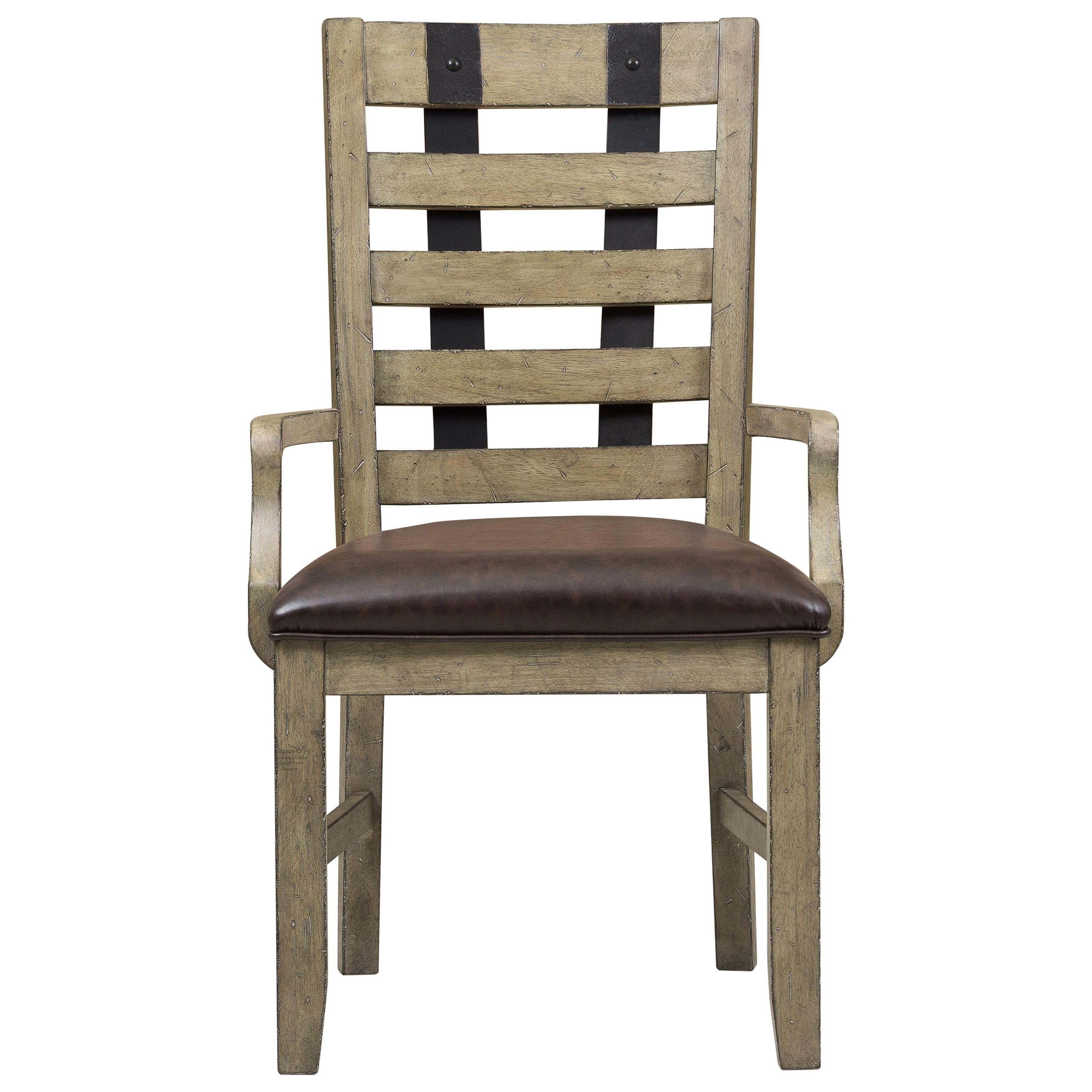 Metal Strap Arm Chair