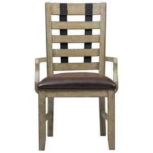 Samuel Lawrence Flatbush Metal Strap Arm Chair
