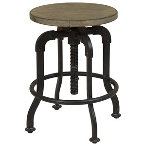 Samuel Lawrence Flatbush Wood and Metal Stool
