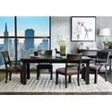 Samuel Lawrence Fulton Street 5 Piece Table and Chair Set - Item Number: S086-135+2x156+2x157
