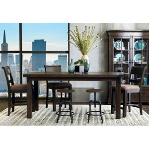 6 Piece Gathering Table and Chair Set