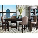 Samuel Lawrence Fulton Street 5 Piece Gathering Table and Chair Set - Item Number: S086-136+4x176