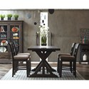 Samuel Lawrence Fulton Street 5 Piece Gathering Table and Chair Set - Item Number: S086-136A+B+4x178