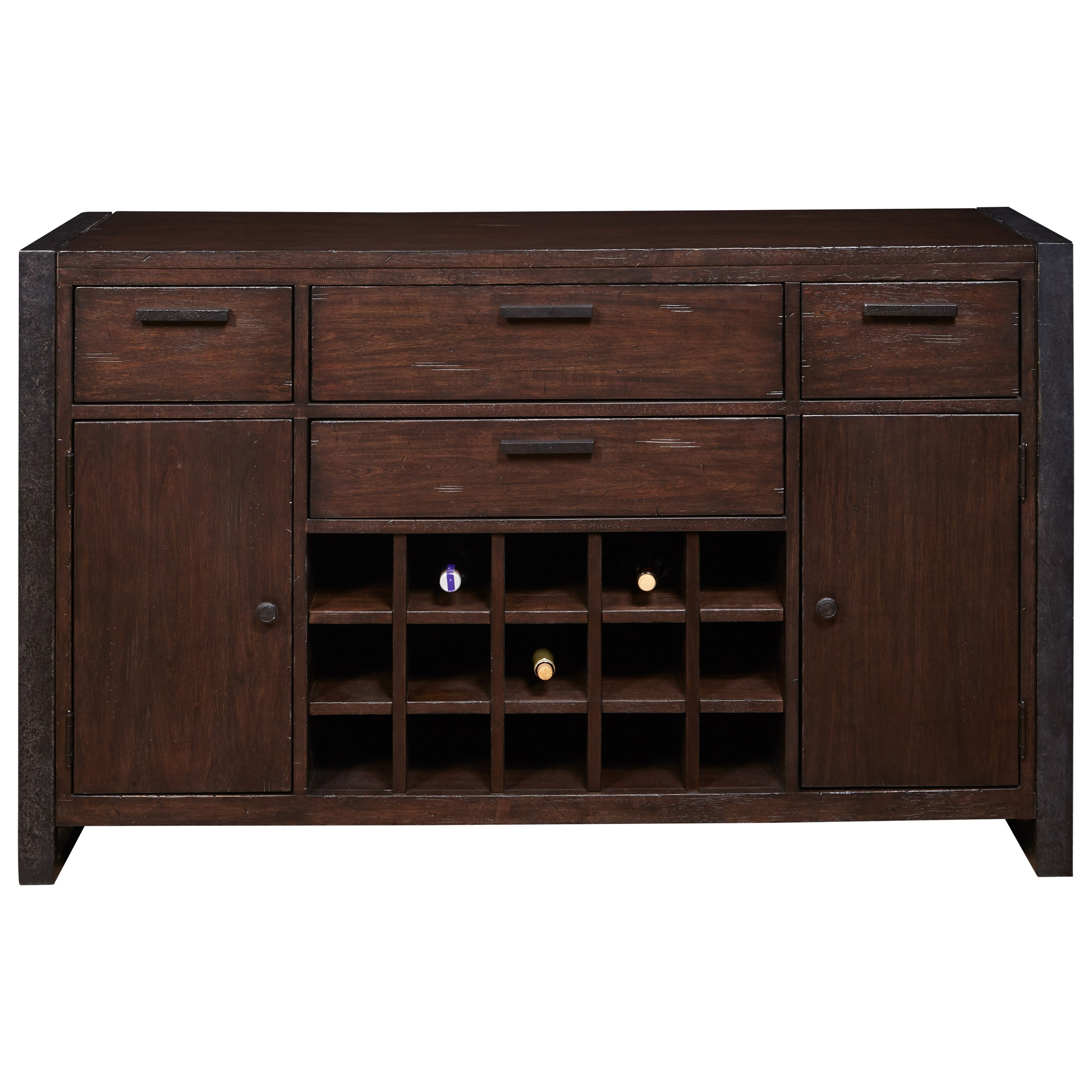 Samuel Lawrence Fulton Street 4 Drawer Server With Wine Rack Royal Furniture Servers