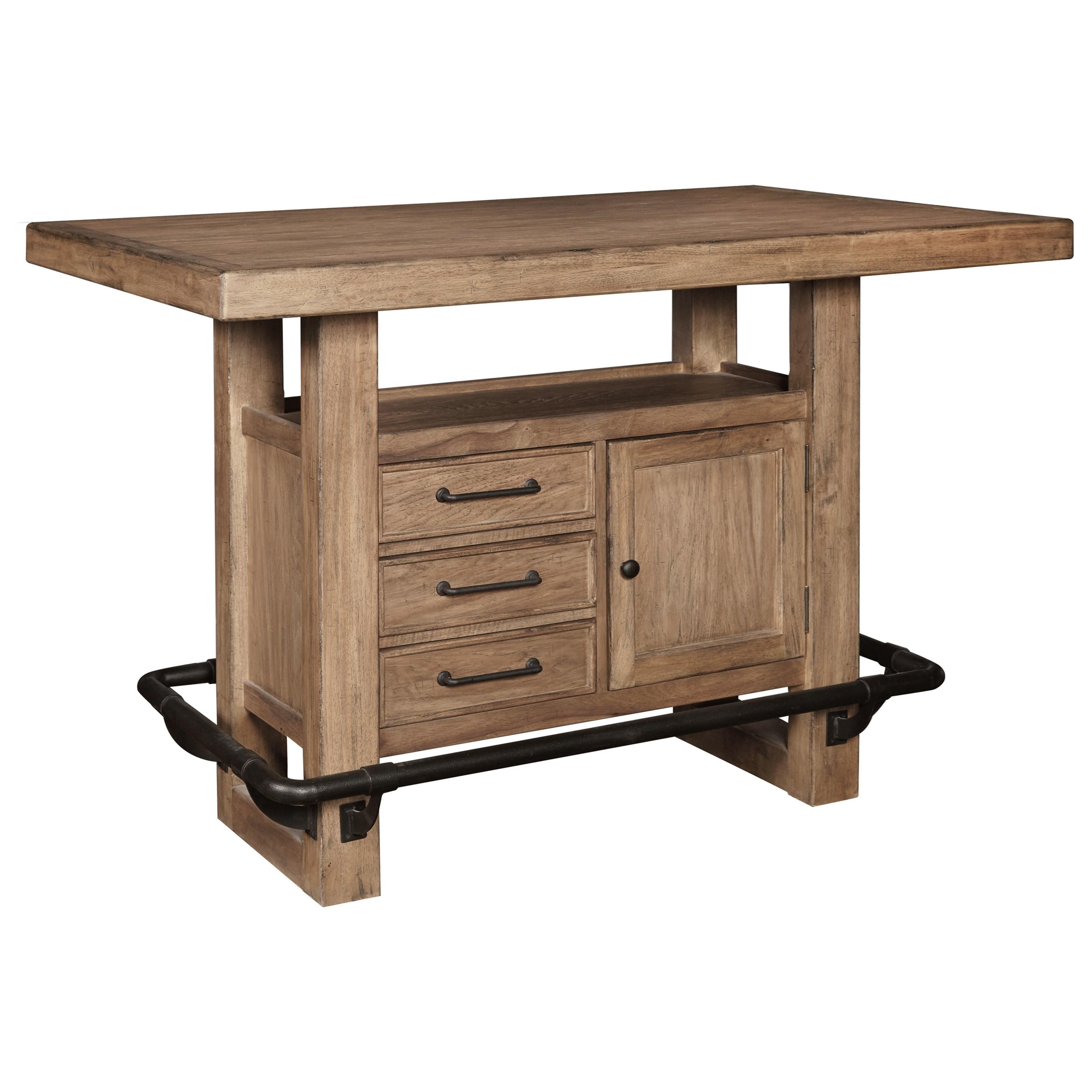 Storage Leg Bar Table