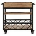 Samuel Lawrence Furniture City Brewing - Blonde Rolling Bar Cart - Item Number: S232-318