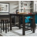 Samuel Lawrence Furniture City Brewing - Stout 5-Piece Bar Table Set - Item Number: S233-104B+A+4x224