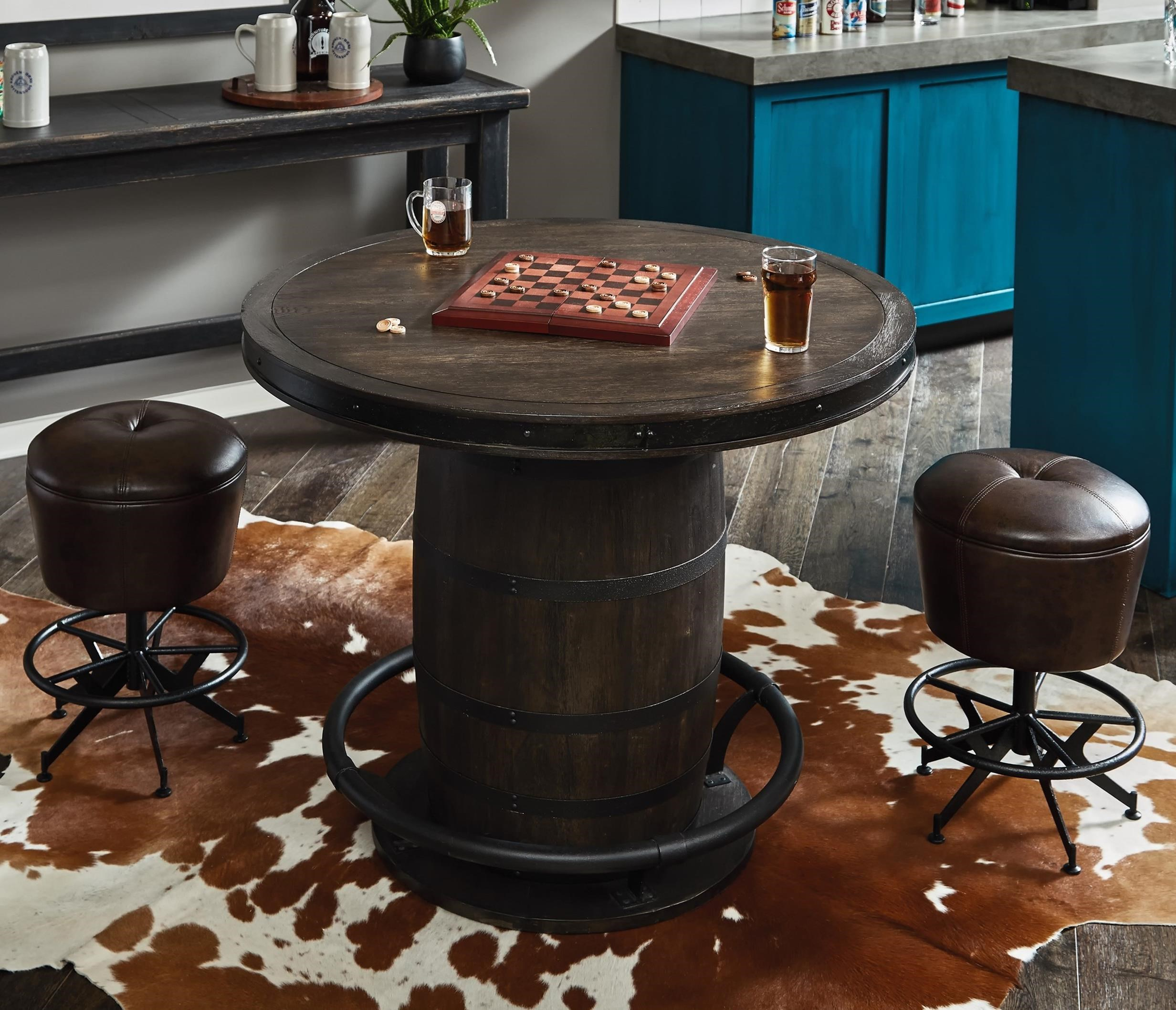 3-Piece Whiskey Barrel Gathering Table Set