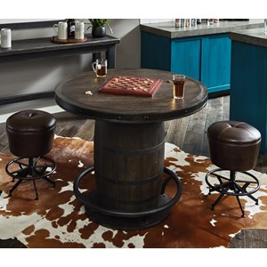 3-Piece Whiskey Barrel Gathering Table Set
