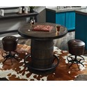 Samuel Lawrence Furniture City Brewing - Stout 3-Piece Whiskey Barrel Gathering Table Set - Item Number: S233-111+110+2xS232-220