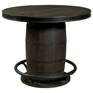 Whiskey Barrel Gathering Table