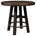 Samuel Lawrence Furniture City Brewing - Stout Round Bar Table - Item Number: S233-158+156