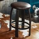 Samuel Lawrence Furniture City Brewing - Stout Whiskey Barrel Gathering Stool - Item Number: S233-204
