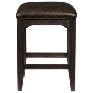 Lager Gathering Stool w/ Metal Footrest