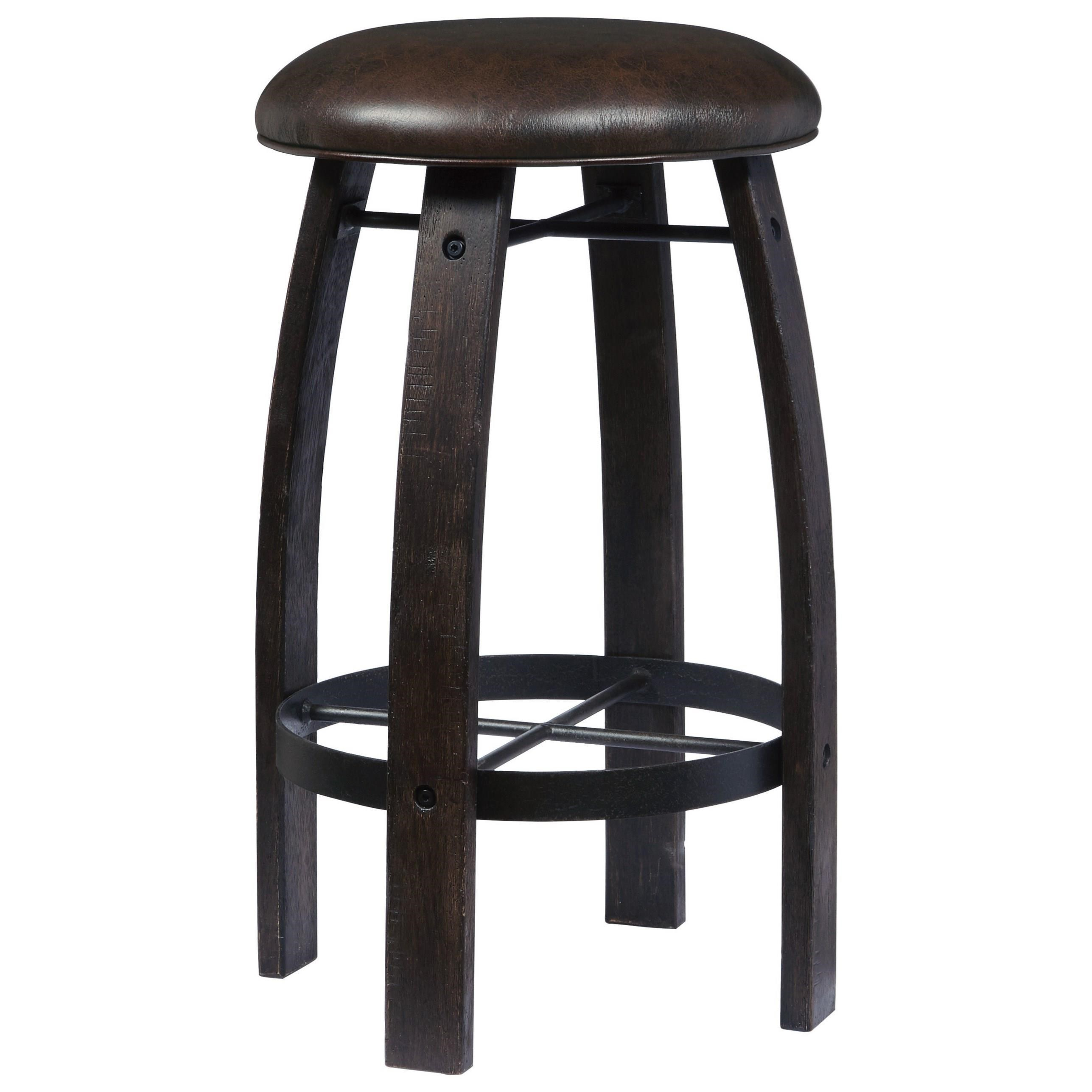 Whiskey Barrel Bar Stool
