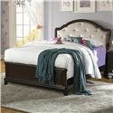 Samuel Lawrence Glamour Twin Bed w/ Rhinestone Tufted  - 8688-530+531+401