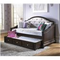Samuel Lawrence Glamour Rhinestone Tufted Daybed w/Trundle - 8688-750+751+801