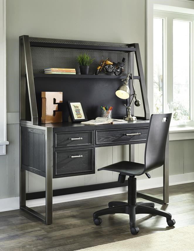 Morris Home Furnishings Granite Falls Granite Falls Desk with Hutch - Item Number: 471890529