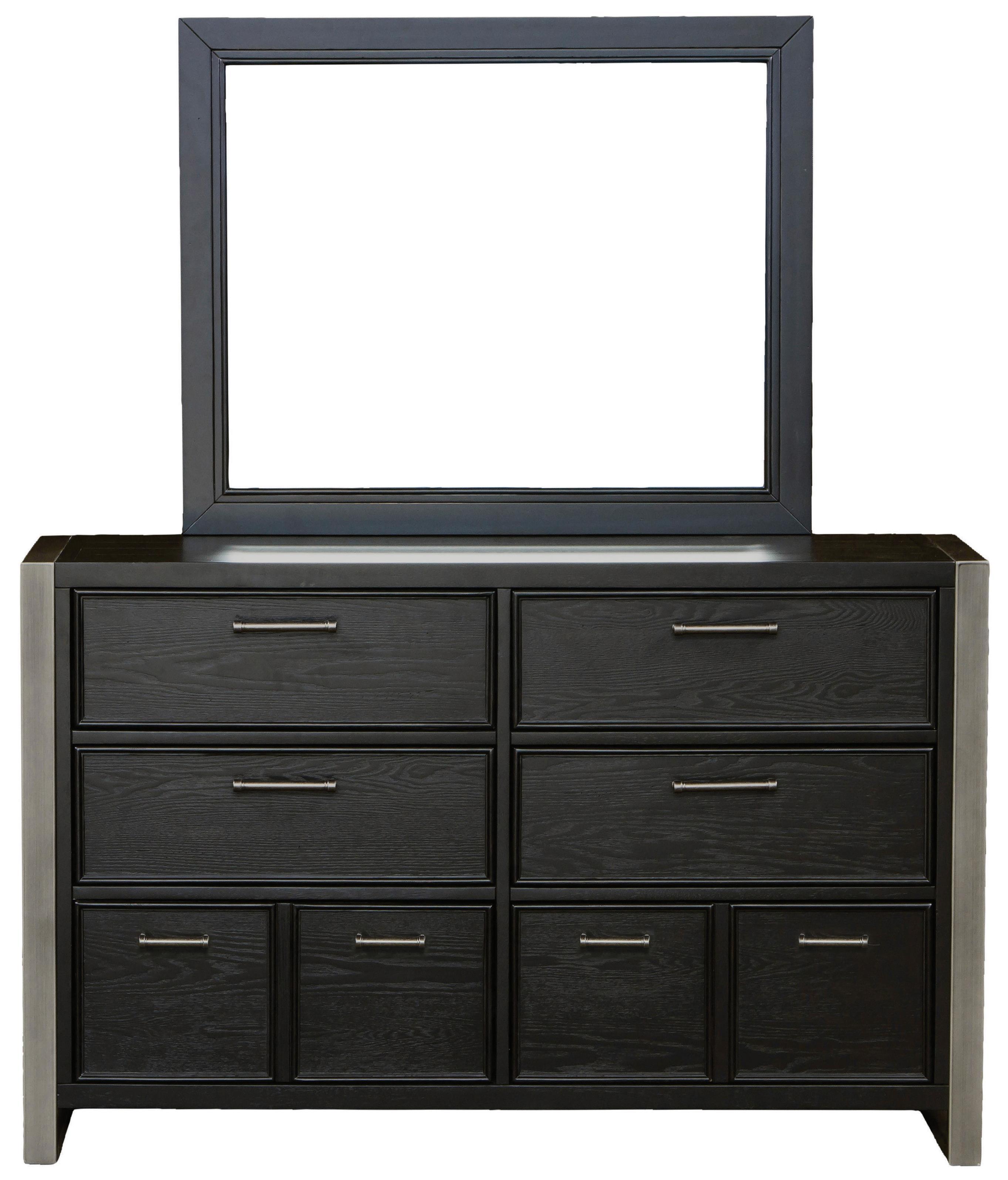 Morris Home Furnishings Granite Falls Dresser and Mirror Combo - Item Number: 8942-410+430