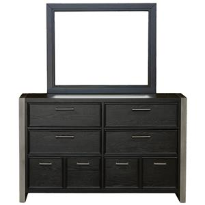 Samuel Lawrence Graphite Dresser and Mirror Combo