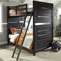 Samuel Lawrence Graphite Twin Bunk Bed - Item Number: 8942-730+1+2+2xSLATR-33