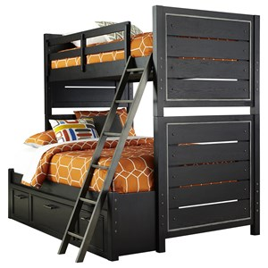 Samuel Lawrence Graphite Twin-Over-Full Bunk Bed