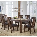 Samuel Lawrence Henna 7 Piece Table and Chair Set - Item Number: S152-135+2x155+4x154