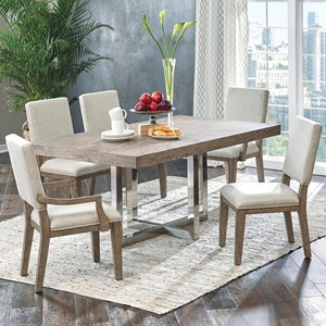 Samuel Lawrence Highland Park 6 Piece Table and Chair Set