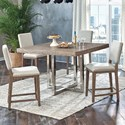 Samuel Lawrence Highland Park 5 Piece Gathering Table and Chair Set - Item Number: S122-137A+B+4x178