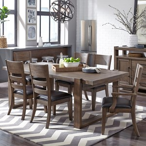 Samuel Lawrence Hops 7 Piece Table and Chair Set