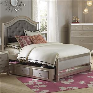 Full Panel Bed w/ Trundle
