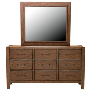 Samuel Lawrence Lincoln Park Dresser and Mirror Combo