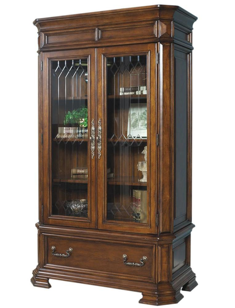 Madison Closed Bookshelf With 2 Glass Doors And 1 Base Drawer By Samuel  Lawrence