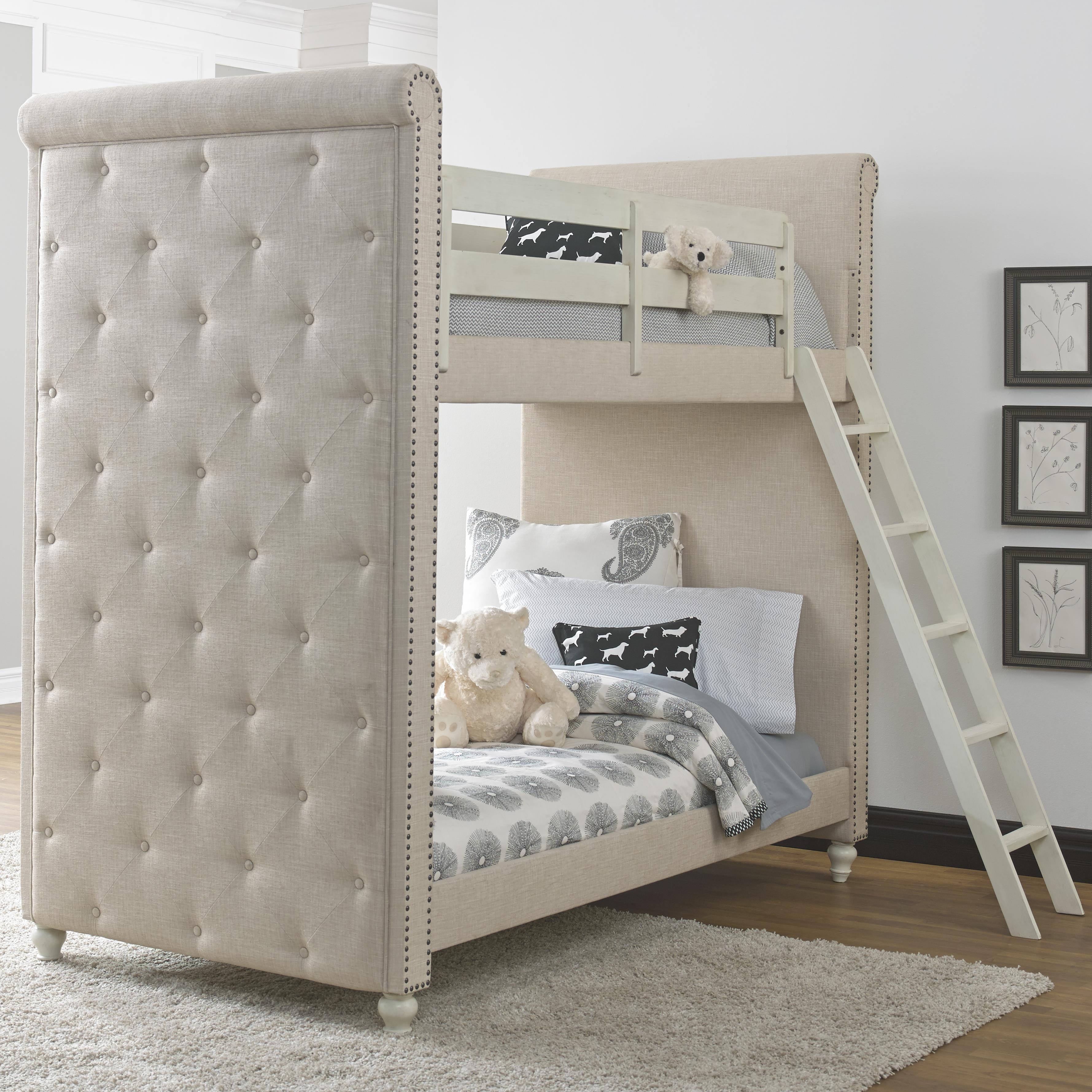 Kidz Gear Everly Twin Bunk Bed - Item Number: 8890-730+731+732+2xSLATR-33