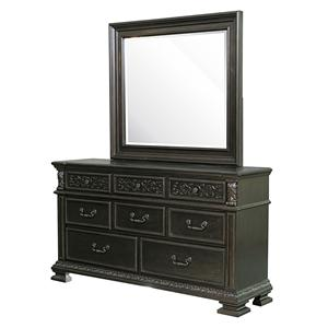 Samuel Lawrence Monarch Dresser & Mirror Set