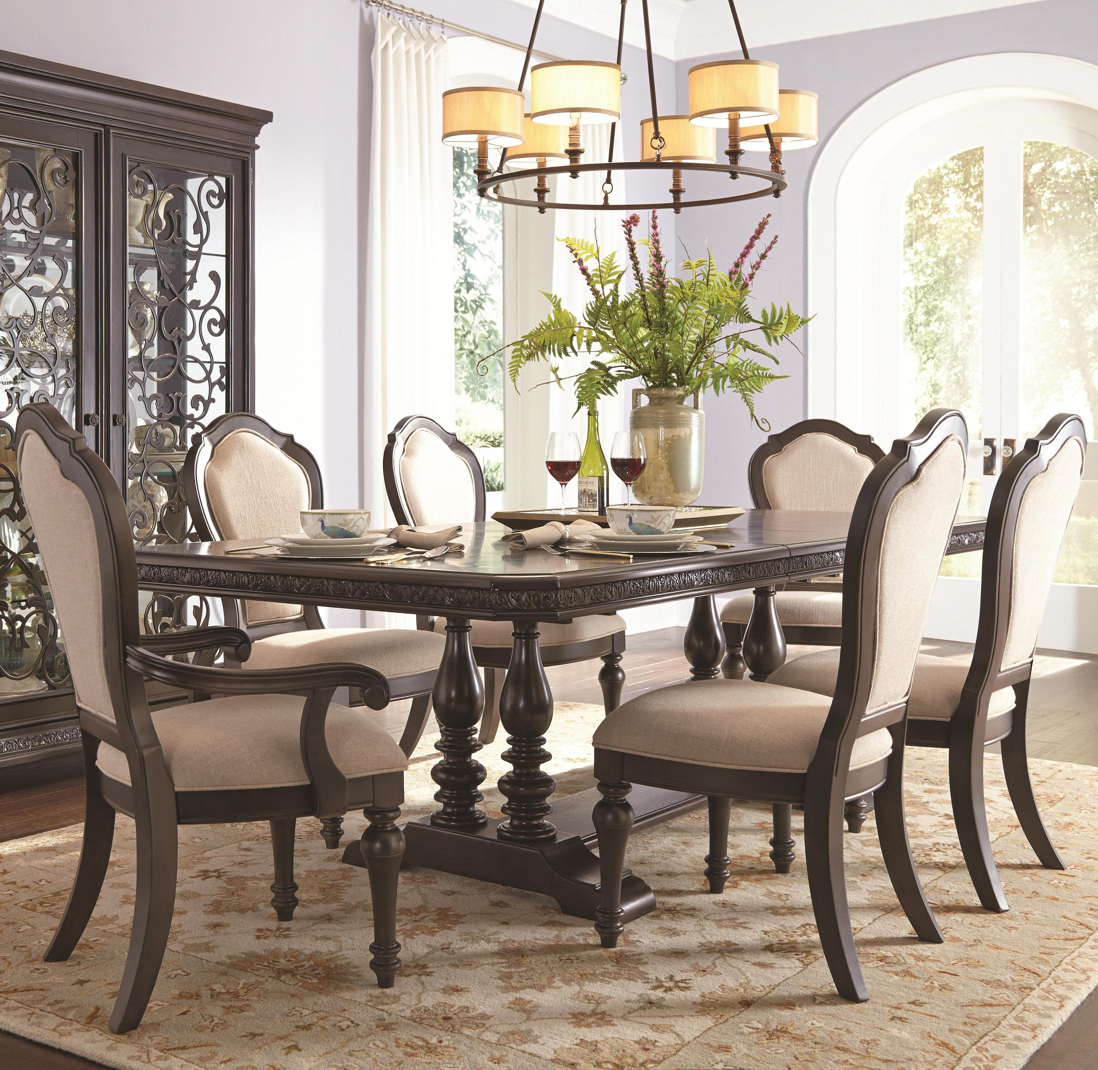 Samuel Lawrence Monarch Table & Chair Set - Item Number: 8794-131A+B+2x155+4x154