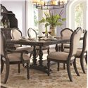 Samuel Lawrence Monarch Trestle Dining Table - Item Number: 8794-131A+B