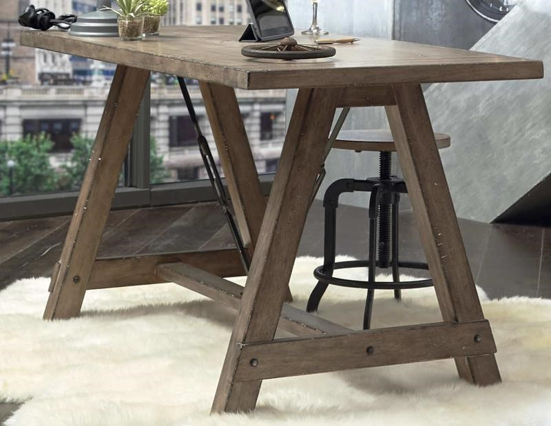 Morris Home Furnishings Oregon District Oregon District Sawhorse Desk - Item Number: 314166690