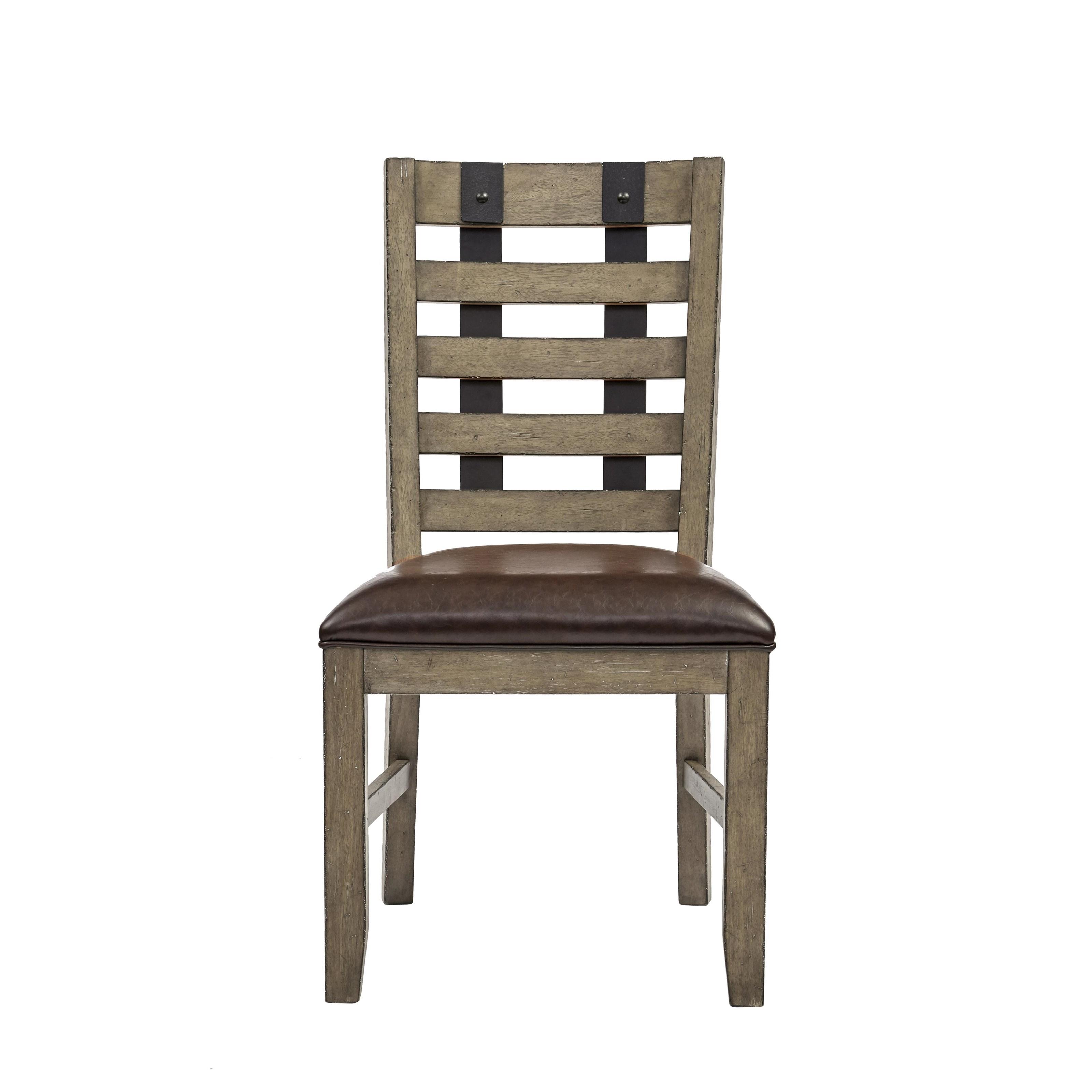 Morris Home Furnishings Oregon District Oregon District Metal Strap Side Chair - Item Number: 605202523