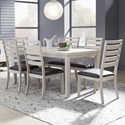 Samuel Lawrence Penfield 7-Piece Table and Chair Set - Item Number: S570-131+6x150