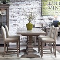 Samuel Lawrence Prospect Hill 5 Piece Gathering Table and Chair Set - Item Number: S082-136A+B+4x176