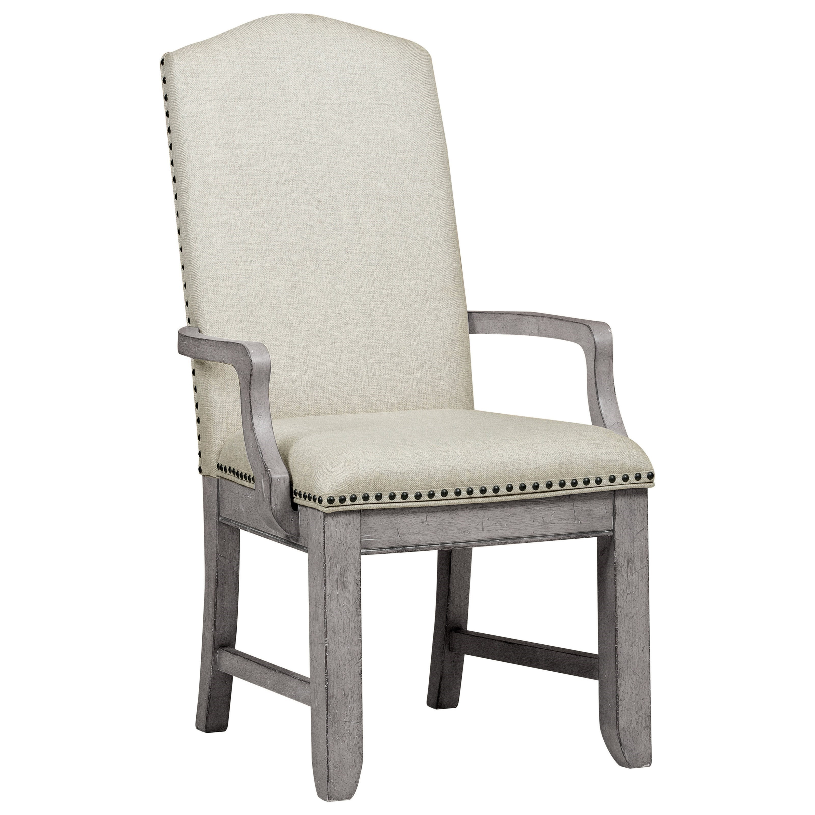 Samuel Lawrence Prospect Hill Upholstered Arm Chair With Nail Head Trim Miskelly Furniture