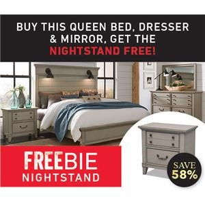 Rhinebeck Queen Bed Set with Freebie!
