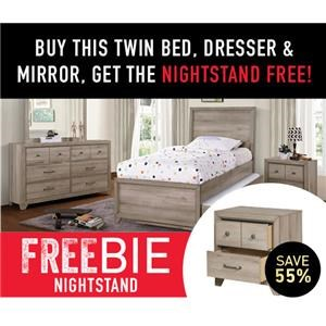 Ash Creek Twin Bed Package with Freebie!