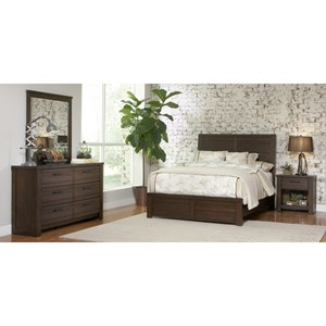 Samuel Lawrence Ruff Hewn Queen 6-Piece Bedroom Group