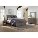 Samuel Lawrence Ruff Hewn Gray Queen Bedroom Group - Item Number: S079 Q Bedroom Group 1