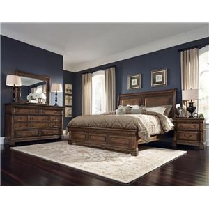 Samuel Lawrence Barcelona King Bed, Dresser, Mirror & Nightstand