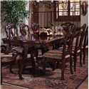 Morris Home Furnishings San Marino Formal Dining Table - Item Number: 3530-131B+131A