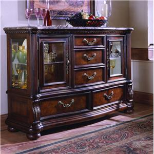 San Marino Glass Door Credenza by Samuel Lawrence