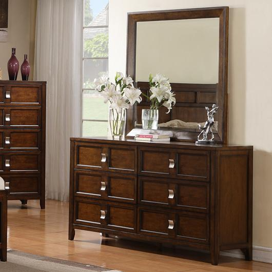 Samuel Lawrence Bayfield Dresser with Mirror - Item Number: 8280-010+030